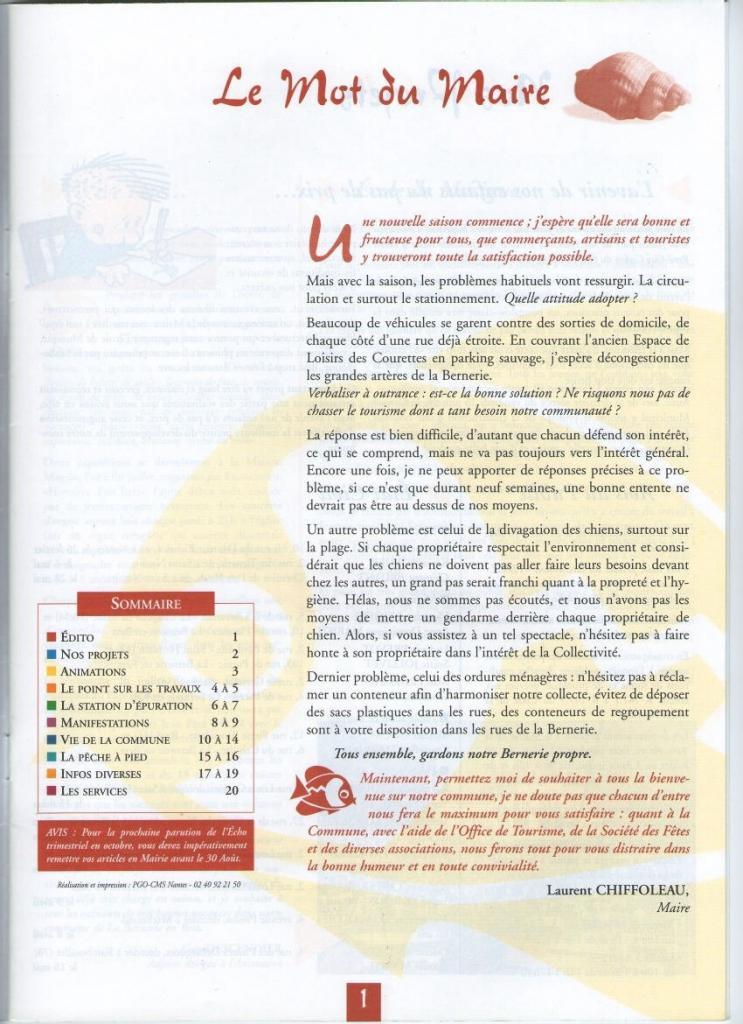 Bulletin été 1998